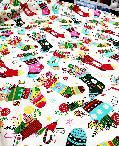 Rose Hubble christmas fabric shipley haberdashery & crafts online uk