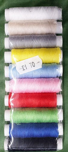 100% polyester sewing threads pack of 10 shipley haberdashery & crafts west yorkshire online uk