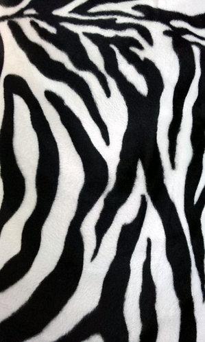 Pony skin Zebra pile fabric
