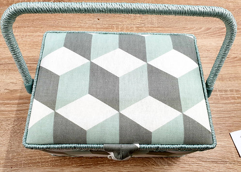 Medium sewing box geometric print shipley haberdashery & crafts online uk top