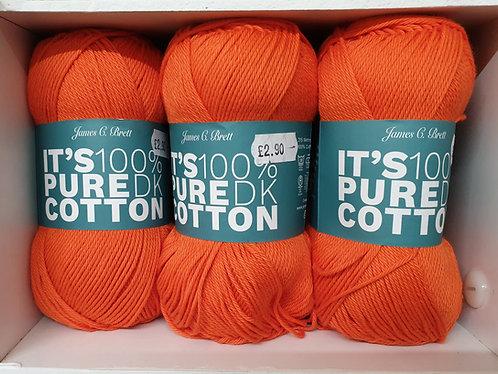 James C Brett  100% Cotton Knitting Crochet WeavinShipley Haberdashery Orange