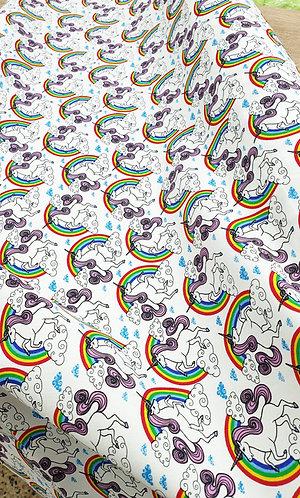 Rose & Hubble 100% cotton unicorn fabric shipley haberdashery & crafts online west yorkshire uk ivory