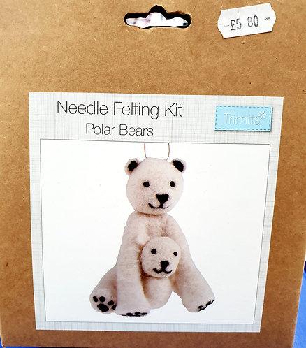 Needle Felting Kit polar bears shipley haberdashery & crafts ltd online uk front image polar bears