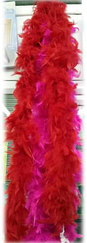 Feather Boa 4 Colours shipley haberdashery & crafts online uk image showing red and cerise