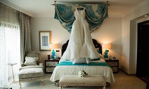 wedding dress, hotel room, inspiration