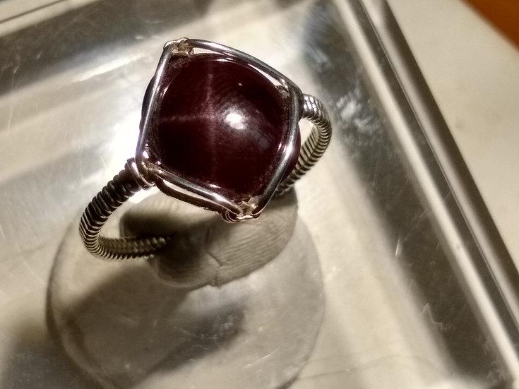 Star Garnet Ring