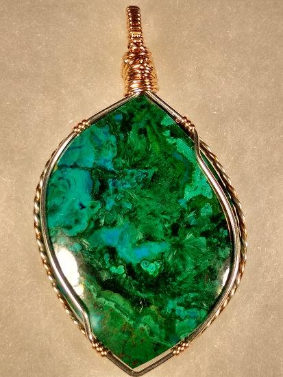 Malachite with Chrysocolla Pendant