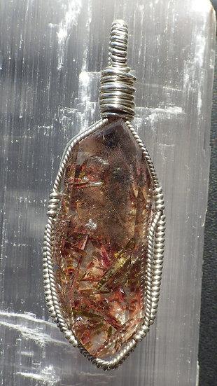 Epidote in Quartz Crystal Pendant