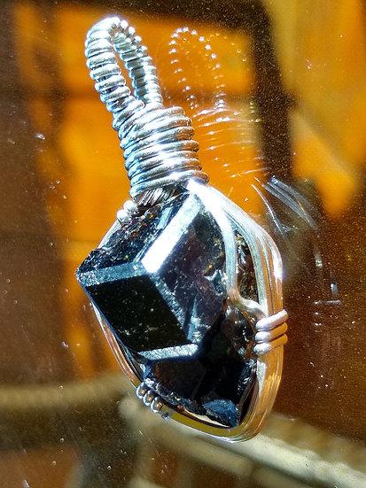 Melanite Garnet Crystal Pendant