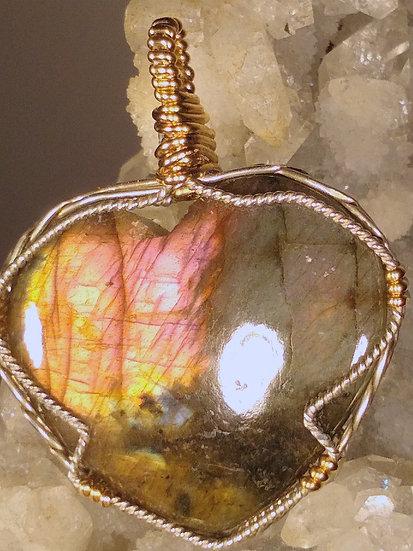Labradorite Heart Pendant
