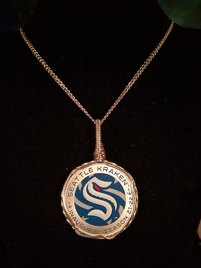 Seattle Kraken Inaugural Season Commemorative Coin Necklace