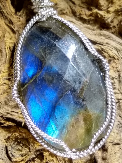 Faceted Labradorite Pendant
