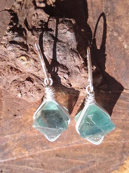 Fluorite Crystal Earrings