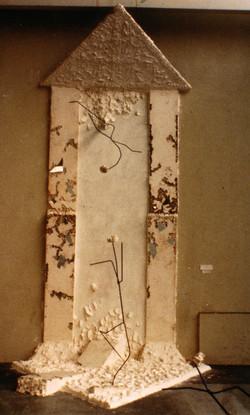 Le temple, plâtre, mirroir, fer