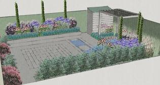 Garden Design 3D Sketchup