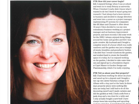 First Time Buyer Magazine Interview Lucy Glover Gardens