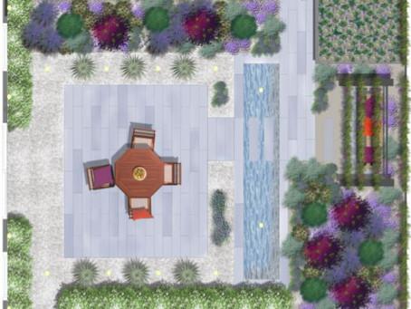 When a garden design becomes a reality