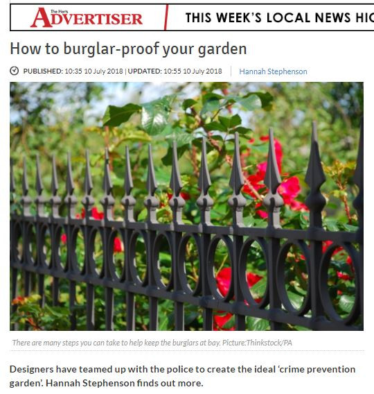 Herts Advertiser article on securing your garden