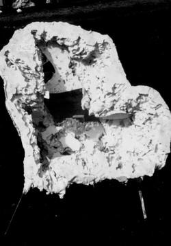 Fauteuil - Plâtre, fer, mirroir