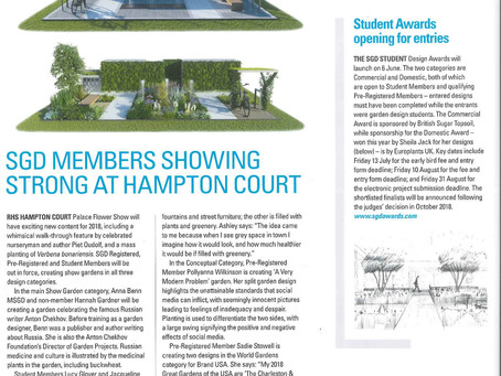 Society of Garden Designers July Issue: Focus on Hampton Court