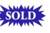 Blue Star Shape Sold Sign