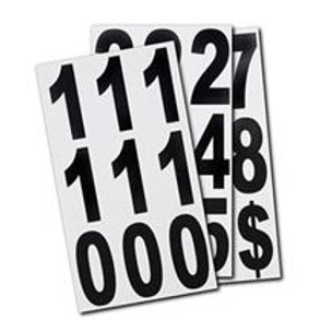 3 Inch Vinyl Number Sign Stickers