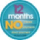 12 Months No intererst - Logo for advert
