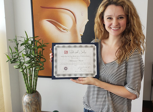 Welcoming Adrienne to Holy Fire Reiki Level 1.