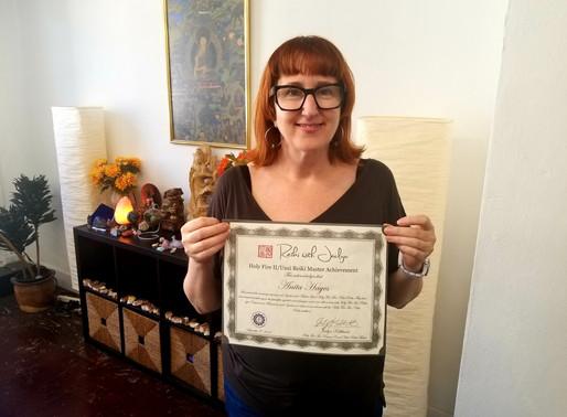 Welcoming Anita Hayes to Holy Fire II Reiki Mastership