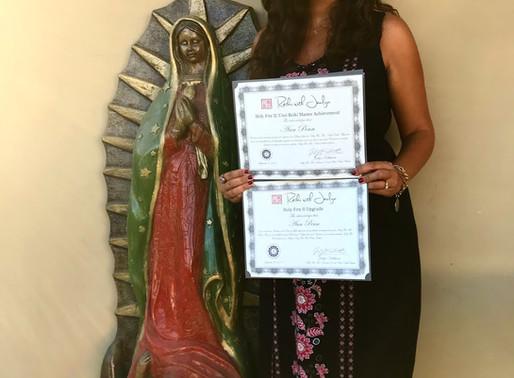 Welcoming Ann Penn to Holy Fire II Mastership!