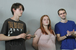 Students learn Percussion