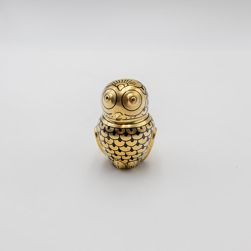 "2"" gold owl"