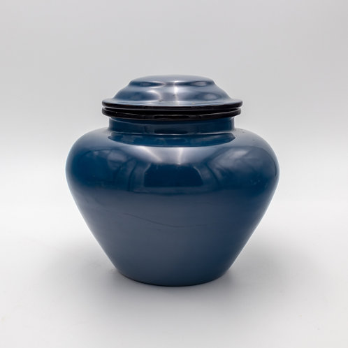 "8"" Pot With Cover (Blue)"