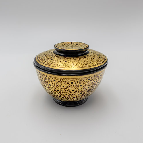 "4.5"" Golden Bowl With Cover"