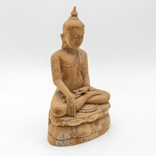 "10"" Sitting Buddha (Wooden Curving)"