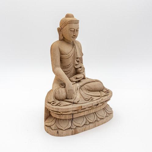 "9"" Sitting Buddha (Wooden Curving)"