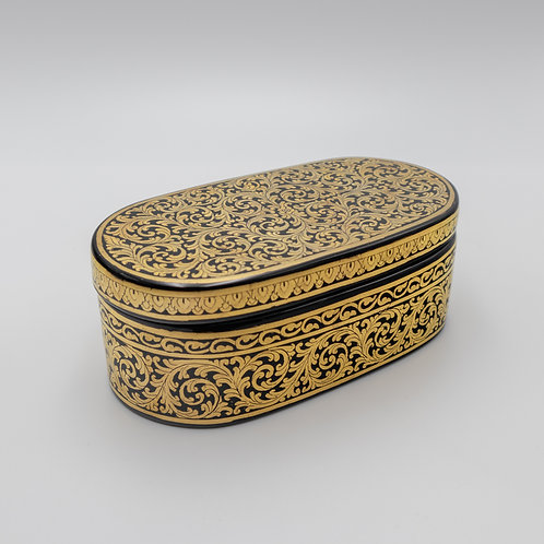Golden Oval Shape Box