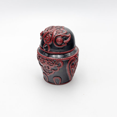 Red Owl (Embossing Lacquerware)