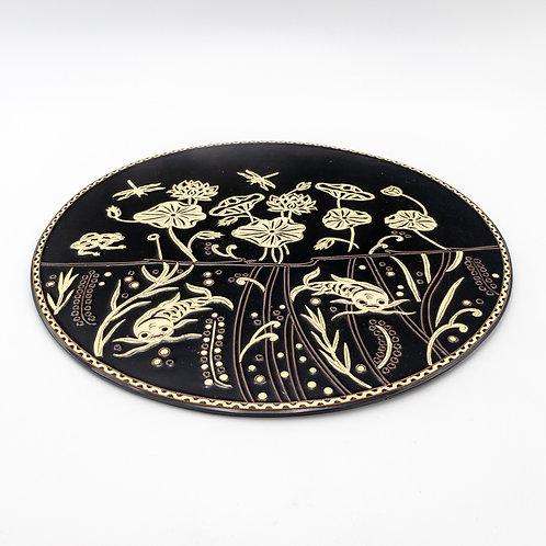 "13"" Plate (Palm Leaves)"