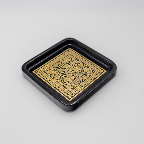 "6"" x 6"" Golden Tray"
