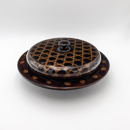 "12"" Japanese Design Tea Leaves Salad Box"