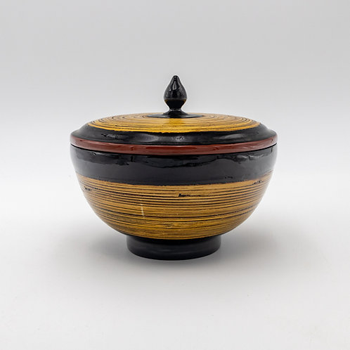 "6"" Bamboo Cup With Cover"