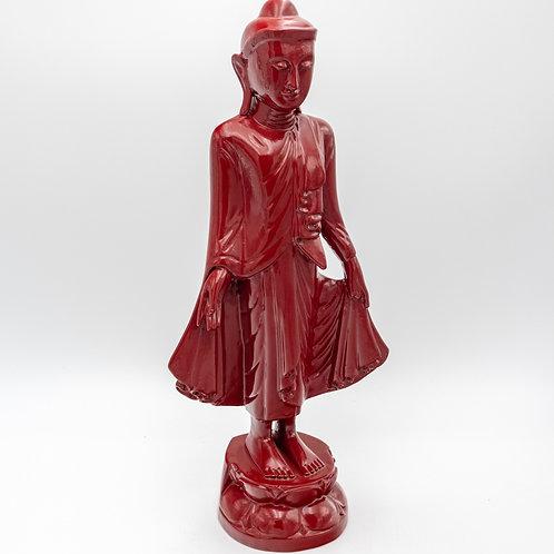 """18"""" Standing Buddha (Red)"""