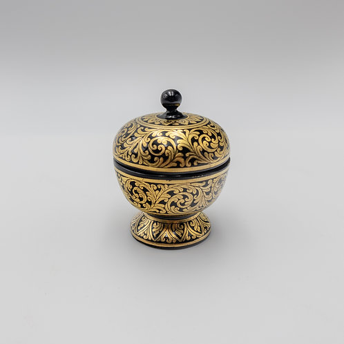 "4"" Bowl With Cover (Gold)"