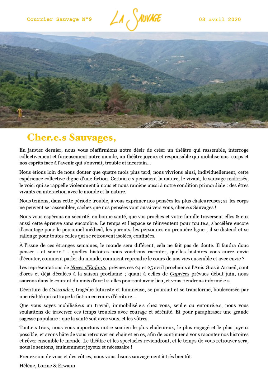 courrier sauvage n°9 - image