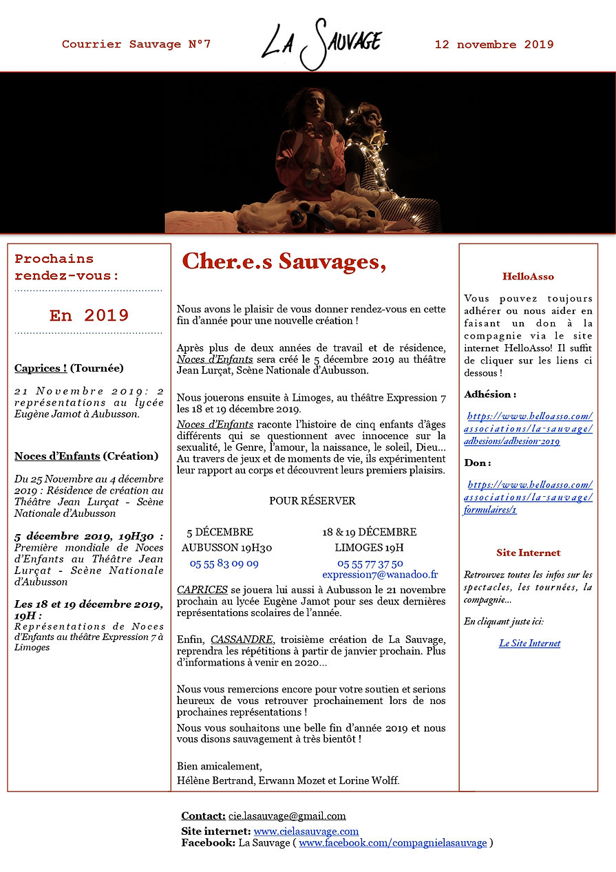 courrier sauvage n°7 - image