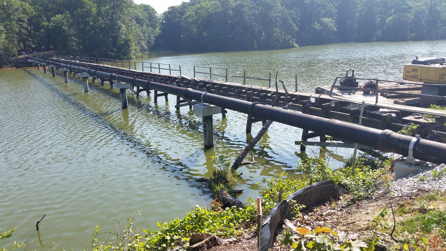 Elevated Sewer on Pilings