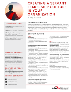 Servant Leadership Culture