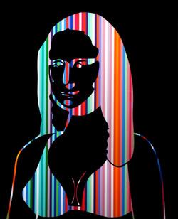 Mona Lisa Colors Black