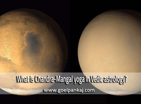 What is Chandra-Mangal yoga in Vedic astrology?